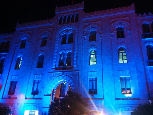 بلدية بيروت ارتدت الأزرق