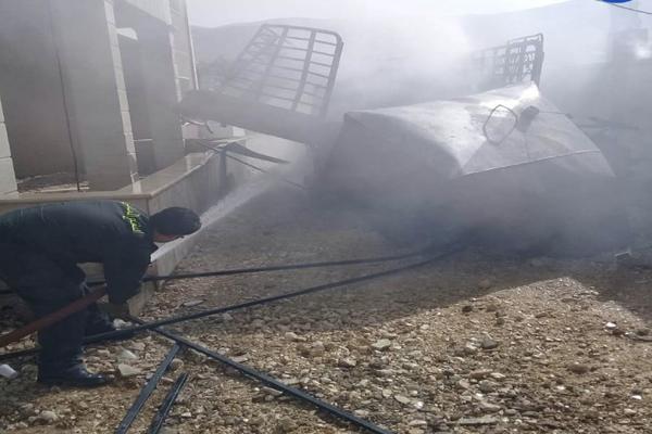انفجار خزان مازوت