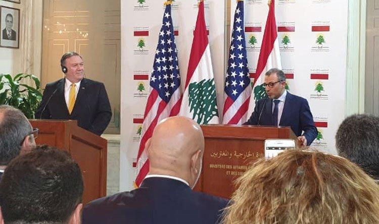 بومبيو من بيروت: حزب الله يعوق لبنان
