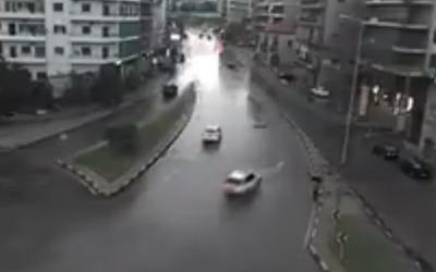 انزلاق سيارة(الفيديو بالداخل)