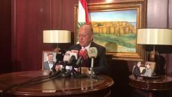 المؤتمر الصحفي للواء اشرف ريفي من مكتبه في الأشرفية