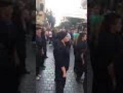 استعراض للحزب القومي في شارع الحمرا ببيروت باللباس العسكري