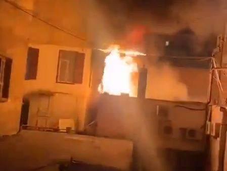 بالصور: حريق في منطقة المصيطبة