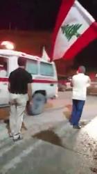 استقبال جثامين شهداء الجيش اللبناني أثناء مرورهم في عرسال